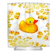 Rubber Ducks Shower Curtain