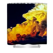 Rubber Ducky Elephant Clouds  Shower Curtain