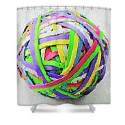 Rubberband Ball I Shower Curtain