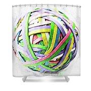 Rubberband Ball II Shower Curtain