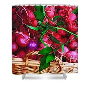 Rubies Organic Shower Curtain