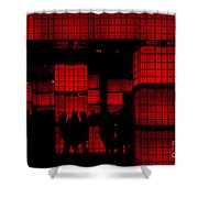Rubik's Dream Shower Curtain