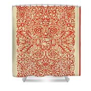 Rubino Red Floral Shower Curtain