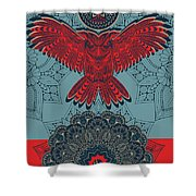 Rubino Spirit Owl Shower Curtain