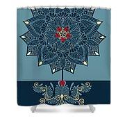 Rubino Zen Flower Shower Curtain