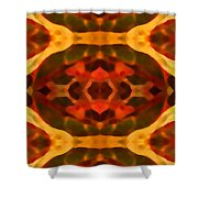 Ruby Crystal Pattern Shower Curtain