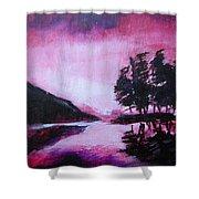 Ruby Dawn Shower Curtain