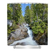 Ruby Falls On A Spring Afternoon Shower Curtain