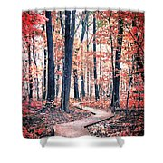 Ruby Forest Shower Curtain
