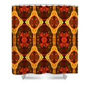 Ruby Glow Pattern Shower Curtain