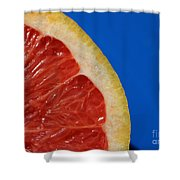 Ruby Red Grapefruit Quarter Shower Curtain