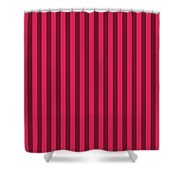 Ruby Red Striped Pattern Design Shower Curtain