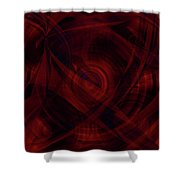 Ruby Red Veil Shower Curtain
