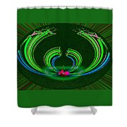 Ruby Singularity In Emerald Sapphire Nest Shower Curtain