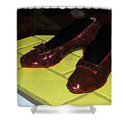 Ruby Slippers On The Yellow Brick Road Shower Curtain