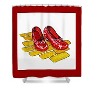 Ruby Slippers The Wizard Of Oz  Shower Curtain by Irina Sztukowski