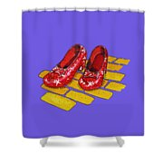 Ruby Slippers The Wonderful Wizard Of Oz Shower Curtain