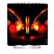 Ruby Wings Shower Curtain