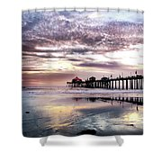 Ruby's Diner On The Pier Shower Curtain