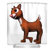 Rudolf Shower Curtain