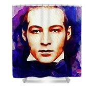 Rudolph Valentino, Vintage Movie Star Shower Curtain
