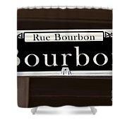 Rue Bourbon Street - New Orleans Shower Curtain