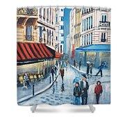 Rue De La Huchette, Paris 5e Shower Curtain