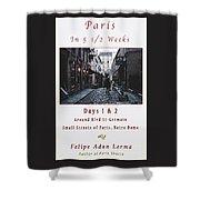 Rue Gregorie De Tours Cover Art Shower Curtain