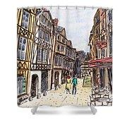 Rue Malpalu, Rouen, France I Shower Curtain