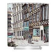 Rue Malpalu, Rouen, France II Shower Curtain