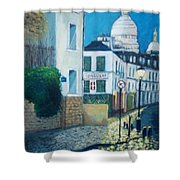 Rue Norvins, Paris Shower Curtain