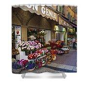 Rue Pairoliere In Nice Shower Curtain