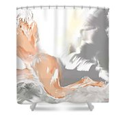 Ruffled Bed Shower Curtain