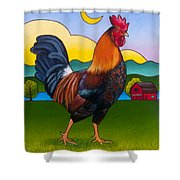 Rufus The Rooster Shower Curtain