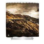 Rugged And Intense Mountain Background Shower Curtain