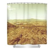 Rugged Bushland View Shower Curtain