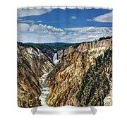 Rugged Lower Yellowstone Shower Curtain
