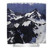 Rugged Mountain Peaks Shower Curtain