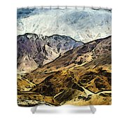 Rugged Mountains Of North India Shower Curtain