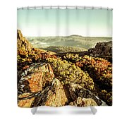 Rugged Mountaintops To Regional Valleys Shower Curtain