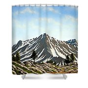 Rugged Peaks Shower Curtain