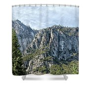 Rugged Valley Walls Shower Curtain