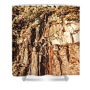 Rugged Vertical Cliff Face Shower Curtain