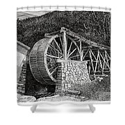 Ruidoso Waterwheel Shower Curtain