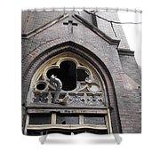 Ruin Courtyard Entrance Shower Curtain