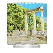 Ruin Of Philipp's Temple In Olympia, Greece Shower Curtain