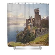 ruin Weitenegg Shower Curtain