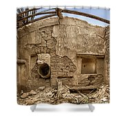 Ruin With Small Plant Shower Curtain