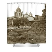 Ruins Of Carmel Mission Circa 1924 Shower Curtain