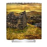 Ruins Of Snowdonia Panorama Shower Curtain
